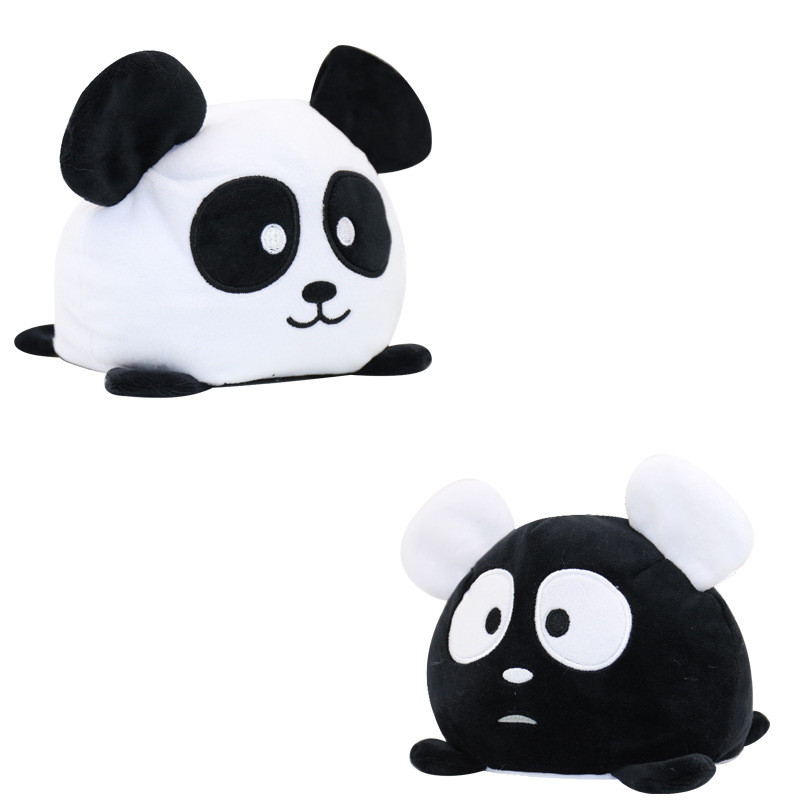 The Original Reversible Panda Patented Design Soft Stuffed Plush Animal Doll for Kids Gift