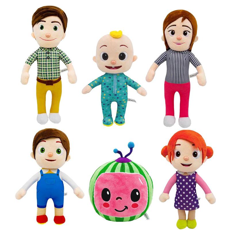 CoCoMelon JJ Plush Doll Watermelon Educational Doll for Children Cartoon Stuffed Animal Doll for Kids Gift