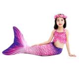 3PCS Kid Girls Ombre Mermaid Tail Bikini Sets Ruffles Top Swimsuit