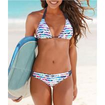 Women Prints Coconut Tree Bikinis Sets Swimwear