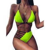 Women Cut Out Triangle Bikinis Sets Swimwear
