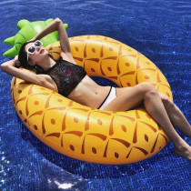 Yellow Pineapple Inflatable Swimming Circle For Kids Child Adults