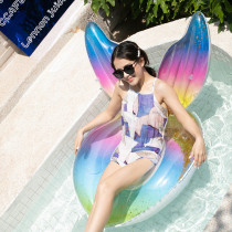 Crown Wing Sequin Inflatable Swimming Circle For Kids Child Adults