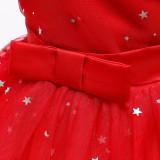 Toddler Girl Off The Shoulder Tutu Stars A-line Gown Dresses