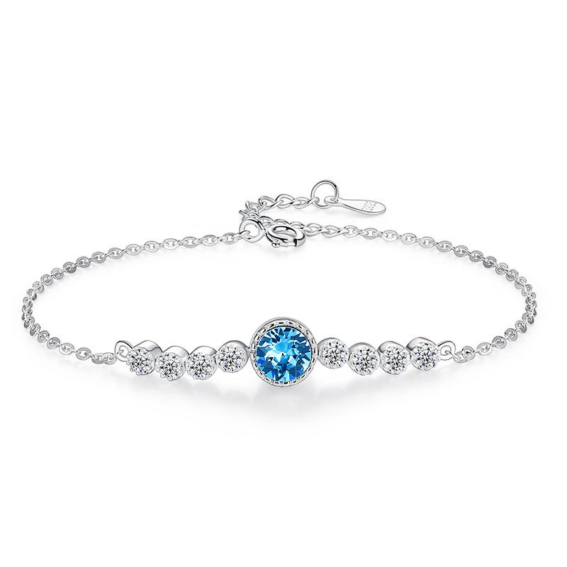 The Heart of the Ocean Zircon Diamond Chain Jewelry Bracelet
