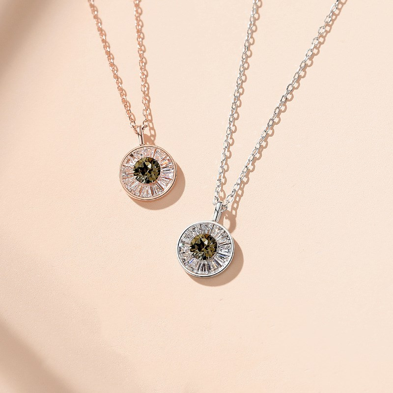 Sterling Silver Lucky Eye Clavicle Pendant Chain Jewelry Necklace