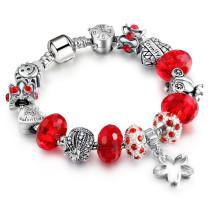 Women's Star Heart Beaded Zircon Diamond Bracelet Chain Charm Jewelry
