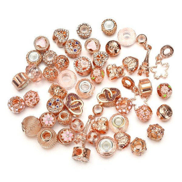 DIY 50 Mixed Beads Crystal Glass Crystal Zircon Beads Bracelet Necklace Accessories Jewelry