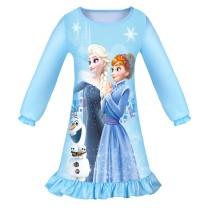 Toddler Girls Frozen Aisha Anna Long Sleeves Sleepwear Dress