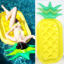 Yellow Pineapple Inflatable Raft Swimming Floating Row