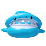 Blue Shark Inflatable Swimming Circle with Awning