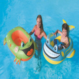 Green Frog Whale Inflatable Sitting Swimming Ring For Kids