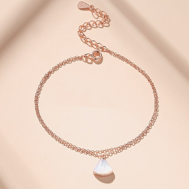 Rose Gold Silver Shell Chain Jewelry Bracelet