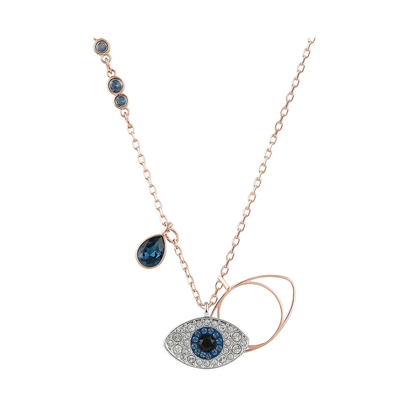 Rose Gold Demon Eye Clavicle Zircon Diamond Chain Jewelry Necklace