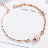 Rose Gold 925 Silver Sterling Silver Small Waist Chain Jewelry Bracelet