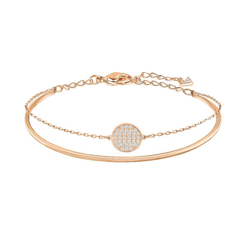 Round Zircon Diamond Swan Chain Jewelry Bracelet