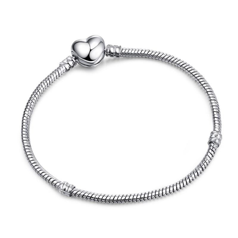 Women's DIY Adjustable 3mm Snake Bone Silver Basic Chain Charm Jewelry