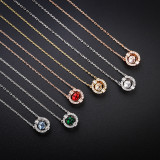 Beating Heart Clavicle White Zircon Diamond Chain Jewelry Necklace