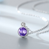 Sea Heart Crystal Diamonds Silver Clavicle Chain Jewelry Necklace