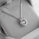 Zircon Diamonds Beating Crown Chain Jewelry Necklace
