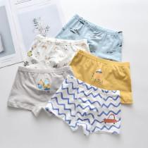 Kid Boys 5 Packs Cute Cars Boxer Briefs Cotton Underwear