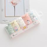 Kid Girls 5 Packs Prints Cute Unicons Boxer Briefs Cotton Underwear