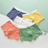 5 Pack Pure Color Toddler Boys Boxer Briefs Comfortable Soft Cotton Underwear