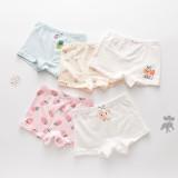 Kid Girls 5 Packs Print Fruits Boxer Briefs Cotton Underwear