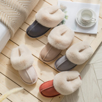 Couples Suede Cozy Soft Solid Color Memory Foam Cotton Ticken Slides Indoor House Winter Warm Home Slippers