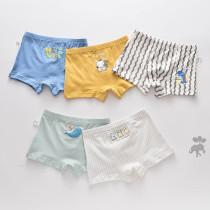 Kid Boys 5 Packs Print Cute Dinosaurs Boxer Briefs Cotton Underwear