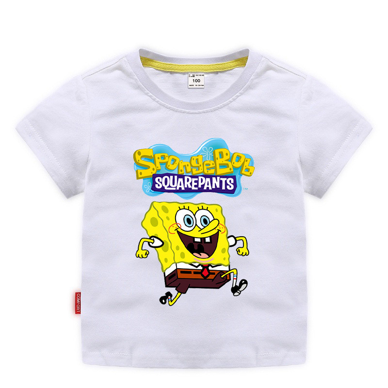 Toddle Boys Print Spongebob Cotton T-shirt