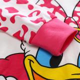 Toddler Girl Print Disney Donald Duck Daisy Pajamas Sleepwear Long Sleeve Tee & Leggings 2 Pieces Sets