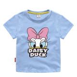 Toddler Girls Print Donald Duck Daisy Cotton T-shirt
