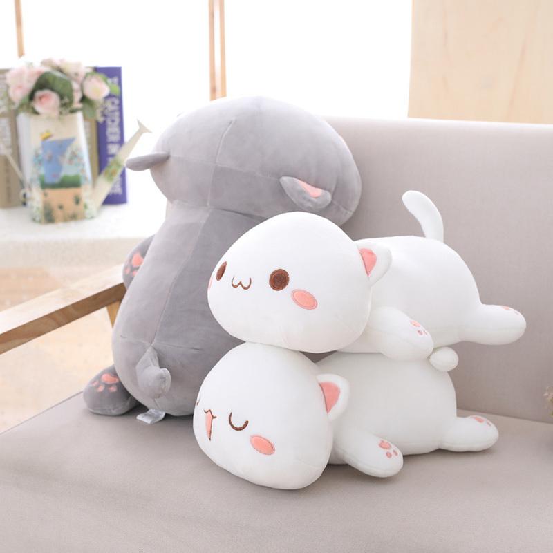 Cute Smile Cat Pillow Stuffed Plush Dolls