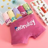 Kid Girls 5 Packs A Week Boxer Brief Cotton Underwear