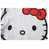 Toddler Girl Print Mascot Hello Kitty Pajamas Sleepwear Long Sleeve Tee & Red Bowknot Leggings 2 Pieces Sets