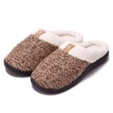 Couples Cozy Soft Plush Fleece Cotton Fluffy Ticken Indoor Home House Winter Warm Slippers