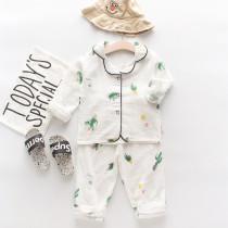 Toddler Kids Girl Prints Cactus Summer Short Pajamas Cotton Sleepwear Set