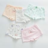 Kid Girls 5 Packs Print Swan Elephant Boxer Briefs Cotton Underwear