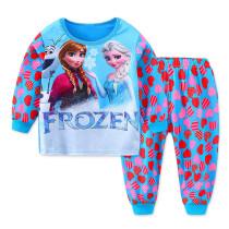 Toddler Girl Print Frozen Alsa and Ana Hearts Pajamas Sleepwear Long Sleeve Tee & Leggings 2 Pieces Sets