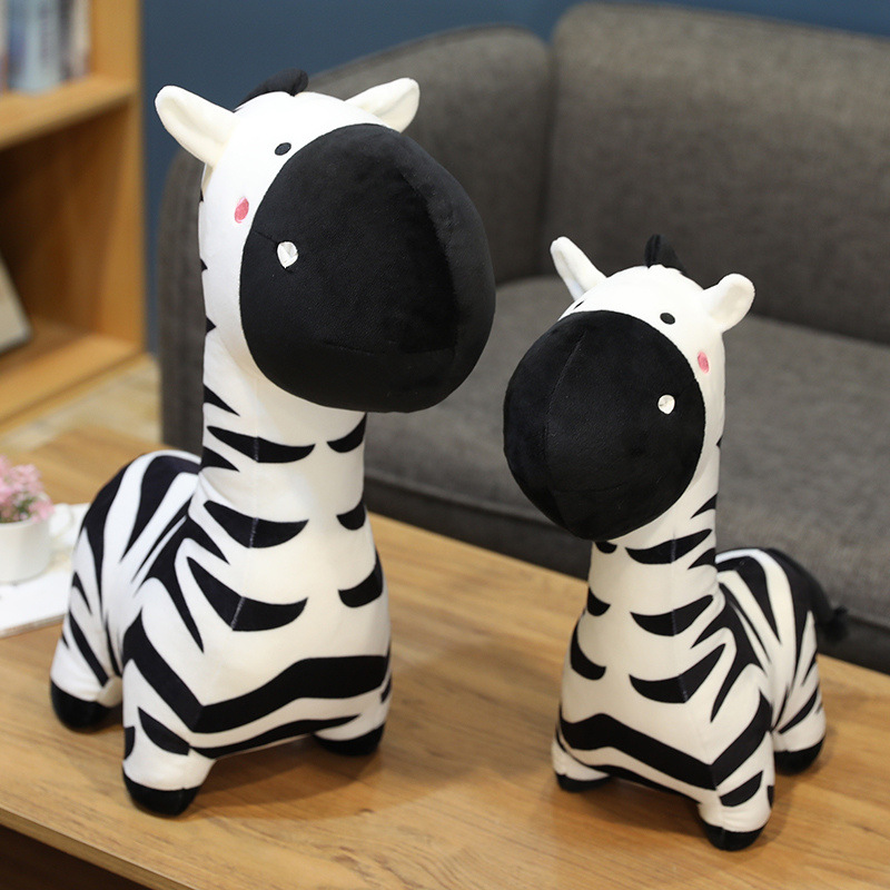 Cute Zebra Animals Stuffed Plush Dolls for Kids Gift