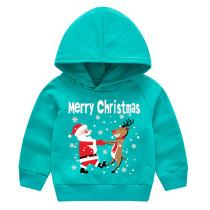 Toddler Kids Merry Christmas Santa Claus Deer Hooded Sweatshirt