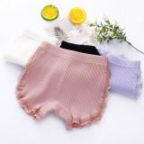 Kid Girls Lace Safety Boxer Brief Cotton Underwear
