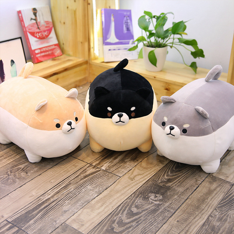 Cute Corgis Dog Pillow Stuffed Plush Dolls for Kids Gift