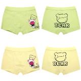 Kid Boys 2 Packs Print Bear Boxer Briefs Cotton Bule And Gray Underwear