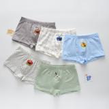 Kid Boys 5 Packs Print Sesame Street Boxer Briefs Cotton Underwear