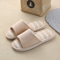 Couples Cozy Soft Solid Color Memory Foam Cotton Open Toe Slides Indoor House Winter Warm Home Slippers
