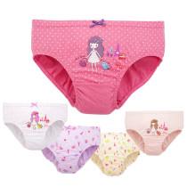 Kid Girls 5 Packs Little Girl Princess Brief Cotton Underwear