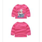Toddler Girl Print Disney Alsa Snowman Pajamas Sleepwear Long Sleeve Tee & Blue Leggings 2 Pieces Sets