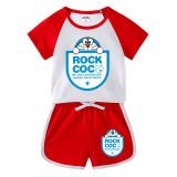 Toddler Kids Boy Doraemon Summer Short Pajamas Sleepwear Set Cotton Pjs